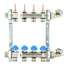 Коллекторная группа из нержавеющей стали с расходомерами и термостатическими вентилями Uni-Fitt (Юнифит)